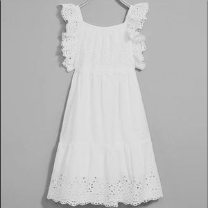 Zara Girl Dress with Swiss Embroidery